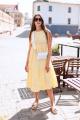 Платье KRASA 116-21 желтое