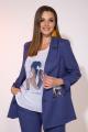 Женский костюм Liliana 978-Ф1 индиго+молочный