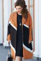 Пальто Vittoria Queen 14493 черный-терракот