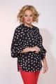 Блуза Liliana 924 черный_горох