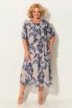 Платье Koketka i K 842-3 бежевый+цветы