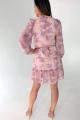Платье Ivera 1034 розовый, белый