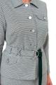 Женский костюм Мишель стиль 976 серо-зеленый