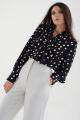 Блуза MALI 621-074 черный_горох