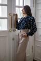 Блуза MALI 621-074 синий_горох