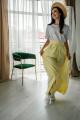 Юбка Legend Style S-010 светло-желтый