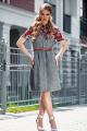 Платье Diva 1317 серый