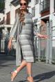 Кардиган, Платье Diva 1321-1 серый