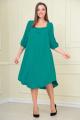Платье VOLNA 1206 бирюзово-изумрудный