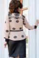 Блуза, Юбка Vittoria Queen 14643 бежевый-черный