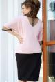 Платье Vittoria Queen 14433 розовый-черный