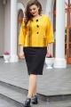 Платье Vittoria Queen 14383 желтый-черный