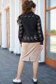 Блуза, Юбка Vittoria Queen 14773  черный-бежевый