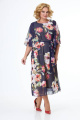 Платье Anelli 679 синий+белые-цветы