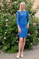 Платье Achosa 1201 василек