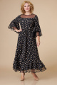 Платье Svetlana-Style 1593 черный+горох