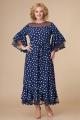Платье Svetlana-Style 1593 синий+горох