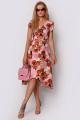 Платье PATRICIA by La Cafe C15132 розовый,рыжий
