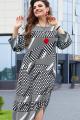 Платье Vittoria Queen 14193 диз.геометрия_черный/белый