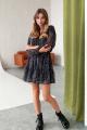 Платье KRASA 240-21 черный_в_цветные_брызги