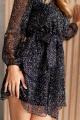 Платье KRASA 224-21 черный_в_цветные_брызги