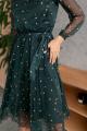 Платье KRASA 185-21 шифон_изумрудный_в_цветы