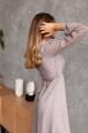 Платье KRASA 247-21 шифон_беж_в_горох