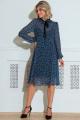 Платье LeNata 11216 синий-в-цветы
