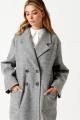 Пальто ELLETTO LIFE 3496 серый