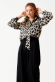 Блуза ELLETTO LIFE 3507 черно-бежевый