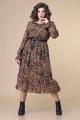 Платье Romanovich Style 1-2208 коричневый/черный