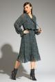 Платье Магия моды 1972 зеленый_горошек