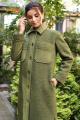 Пальто Мода Юрс 2633 хаки