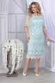 Платье Ninele 2296 светло-зеленый+молочный