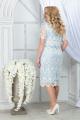 Платье Ninele 5843 молочный+голубой