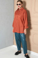 Рубашка SOVA 11078 терракот