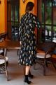 Платье Colors of PAPAYA 1542 черный+принт_мультиколор