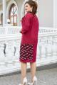 Платье Vittoria Queen 14753 замш_бордо
