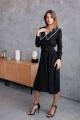 Платье KRASA 276-21 черный_в_горох