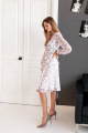 Платье KRASA 247-21 белый_в_сирень