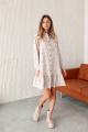 Платье KRASA 277-21 бежевое_в_горох
