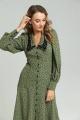 Платье SandyNa 130108 олива_горох