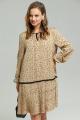 Платье SandyNa 130109 бежевый_горох