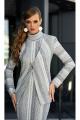 Кардиган, Платье Diva 1335-1 серый