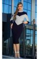 Платье Diva 1341 синий+серый