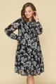 Платье DaLi 5535 чёрно-белое