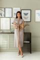 Платье LadisLine 1390 серый-бежевый