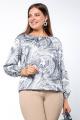 Блуза La rouge 6200 серый-набивной