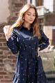 Платье KRASA 277-21 синий-горох