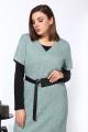 Блуза, Платье Karina deLux М-9934 зеленый